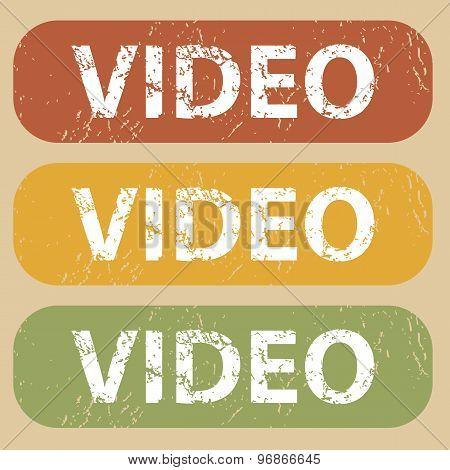 Vintage VIDEO stamp set