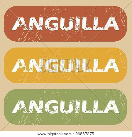 Vintage Anguilla stamp set