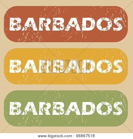 Vintage Barbados stamp set