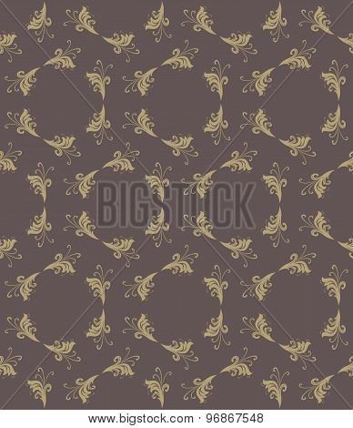 Geometric Seamless Vector Golden Pattern