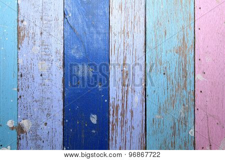 Colorful old wooden floor