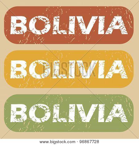 Vintage Bolivia stamp set