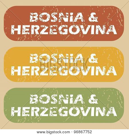 Vintage Bosnia and Herzegovina stamps