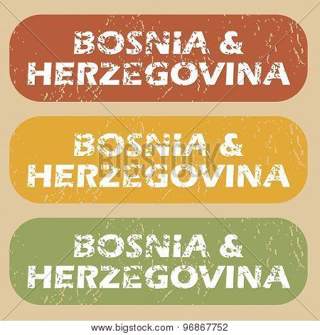 Vintage Bosnia and Herzegovina stamps