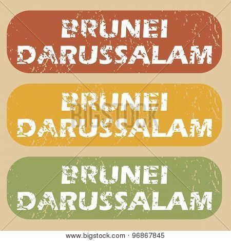 Vintage Brunei Darussalam stamp set