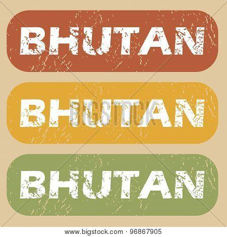 Vintage Bhutan stamp set
