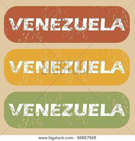 Vintage Venezuela stamp set