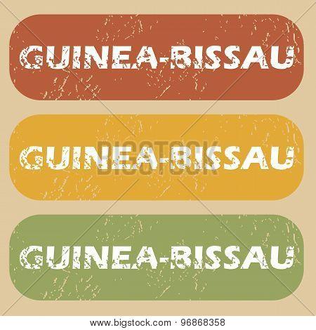Vintage Guinea-Bissau stamp set