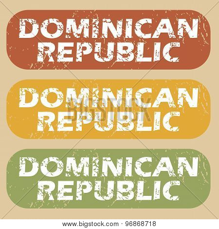 Vintage Dominican Republic stamp set