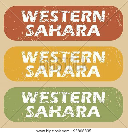 Vintage Western Sahara stamp set