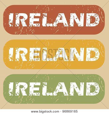 Vintage Ireland stamp set