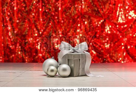 Silver Present And Baubles