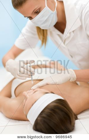Injection - Woman In Cosmetic Medicine Treatment