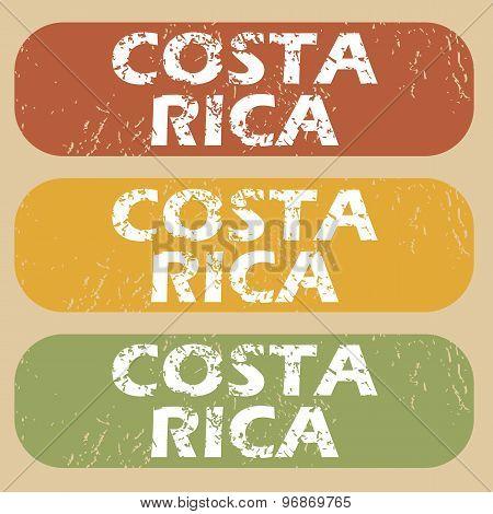 Vintage Costa Rica stamp set