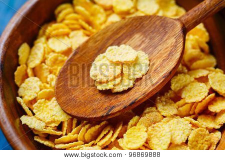 Golden corn flakes
