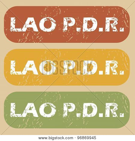 Vintage Lao PDR stamp set