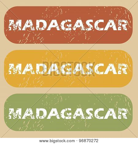Vintage Madagascar stamp set