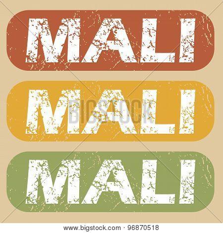 Vintage Mali stamp set