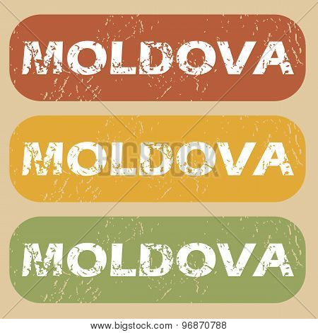 Vintage Moldova stamp set