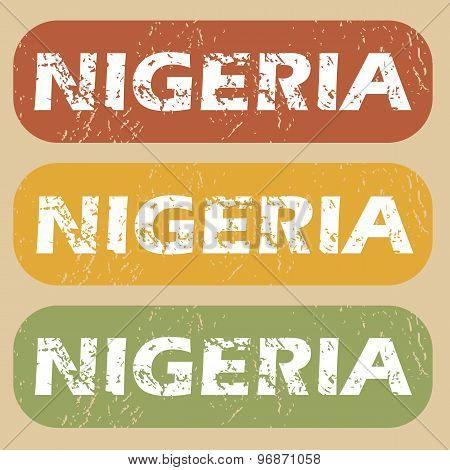 Vintage Nigeria stamp set