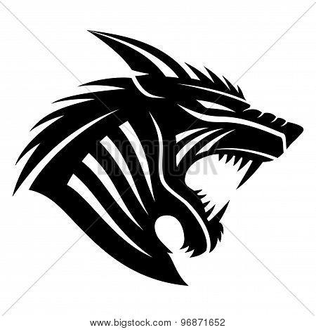 Vector sign werewolf.