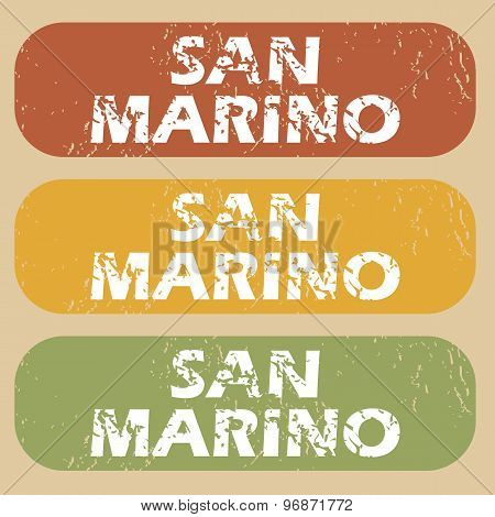 Vintage San Marino stamp set