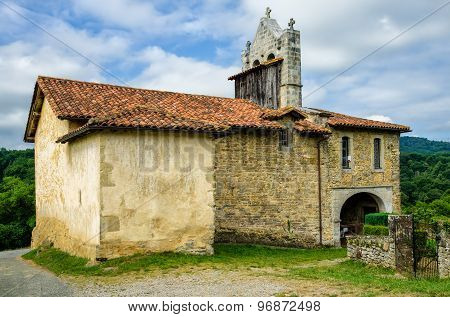 Chapel of St Nicholas in the tiny French hamlet Harambels.