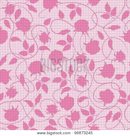 Vector Seamless Pattern With Roses.