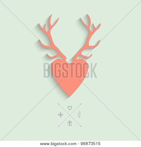 Illustration with Antlers