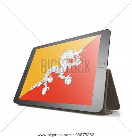 Tablet With Bhutan Flag