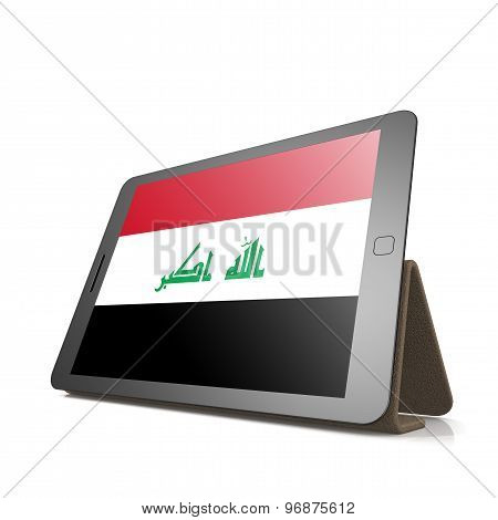 Tablet With Iraq Flag