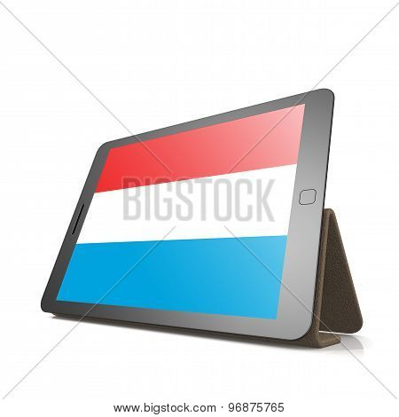 Tablet With Luxembourg Flag