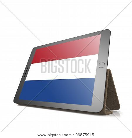 Tablet With Netherlands Flag