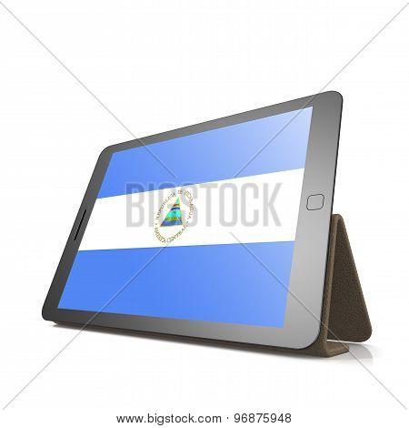 Tablet With Nicaragua Flag