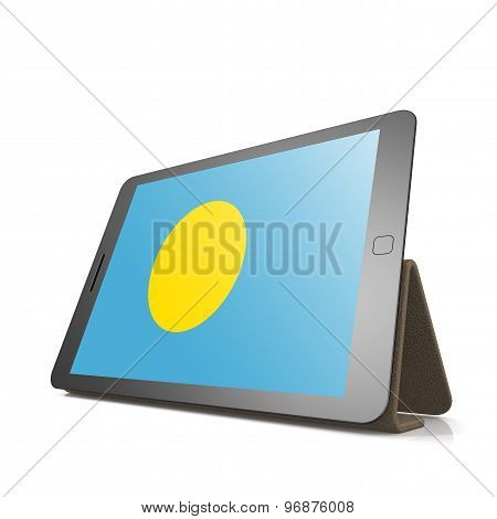 Tablet With Palau Flag