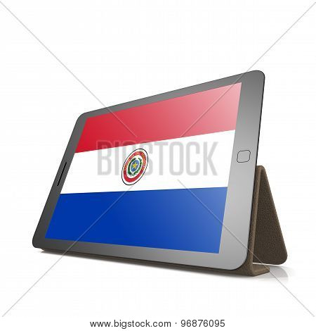 Tablet With Paraguay Flag