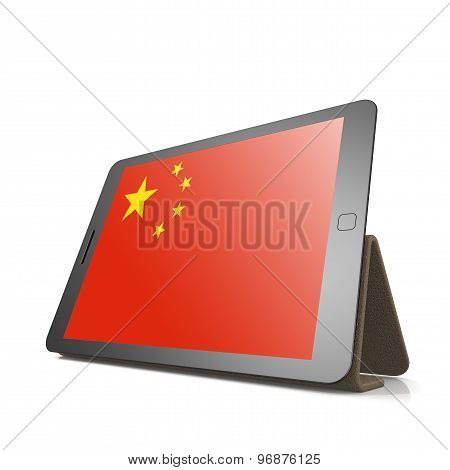 Tablet With People Republic Of China Flag