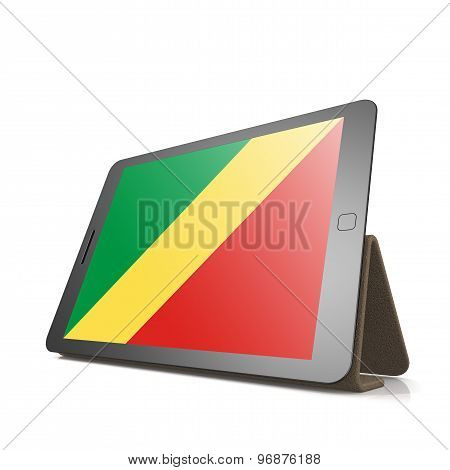 Tablet With Republic Of The Congo Flag