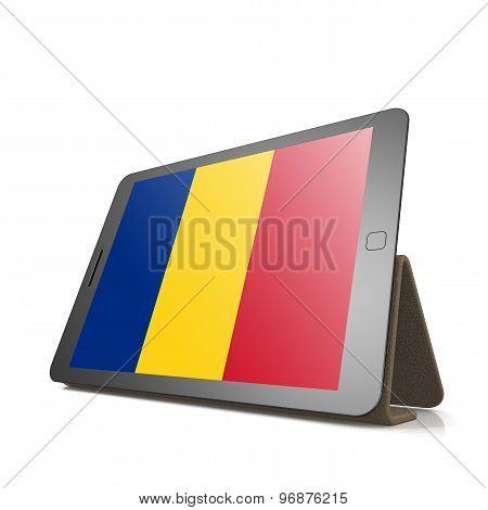 Tablet With Romania Flag