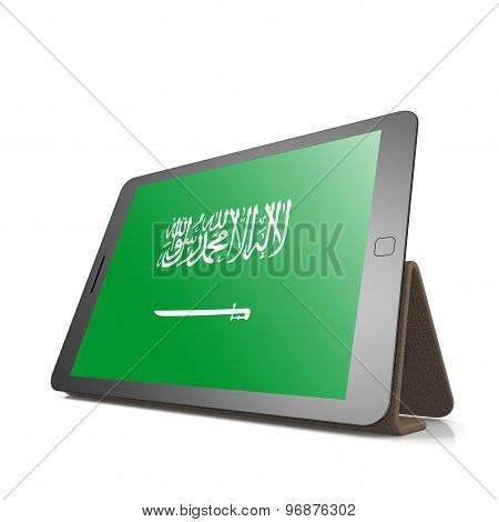 Tablet With Saudi Arabia Flag