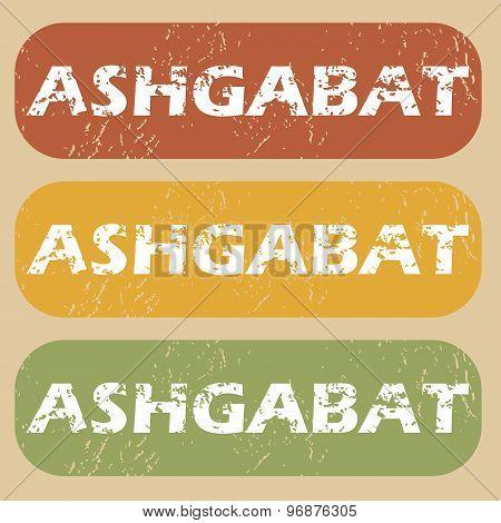 Vintage Ashgabat stamp set
