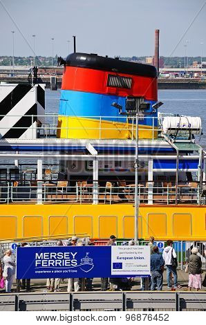 Ferry in the Port, Liverpool.