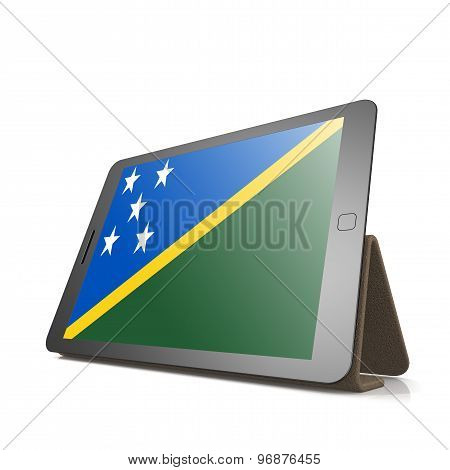 Tablet With Solomon Islands Flag