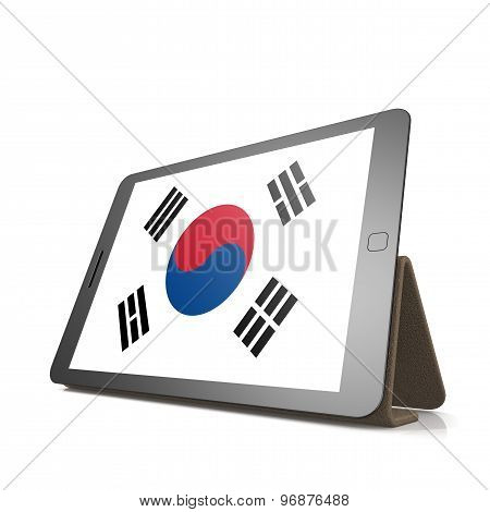 Tablet With South Korea Flag