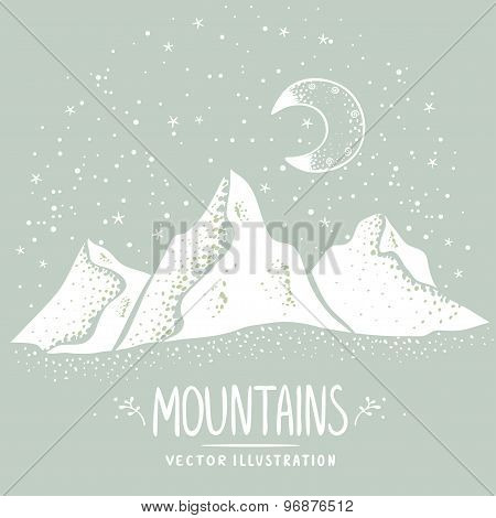 mountains silhouette