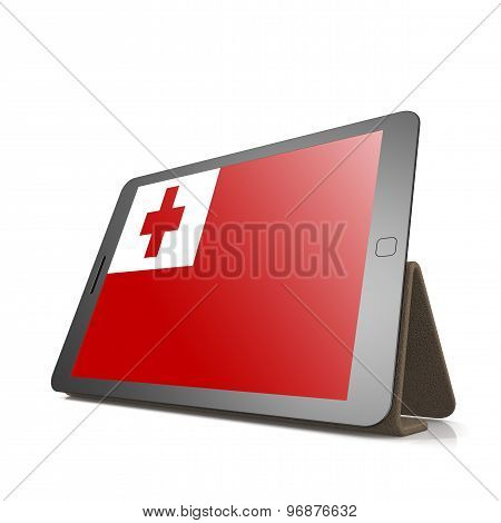 Tablet With Tonga Flag