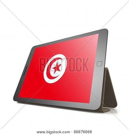 Tablet With Tunisia Flag