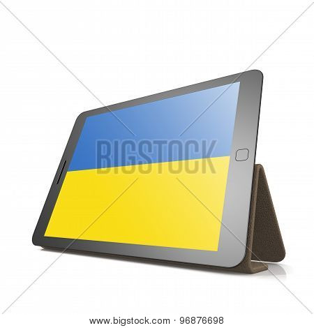 Tablet With Ukraine Flag