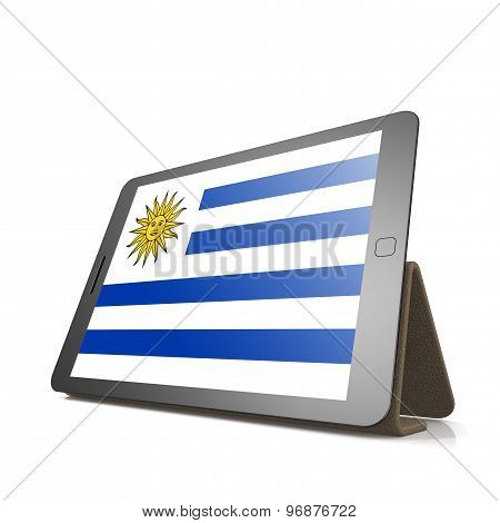 Tablet With Uruguay Flag