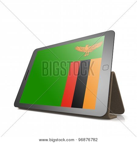 Tablet With Zambia Flag